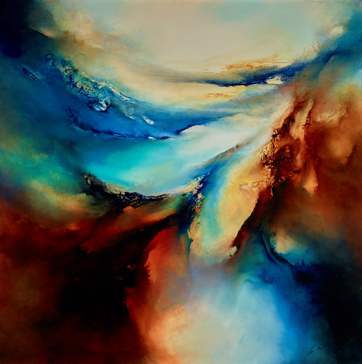 The Edge of All by simon kenny -  sized 40x40 inches. Available from Whitewall Galleries